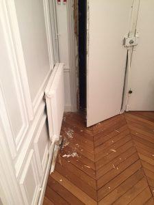 Porte fracturée