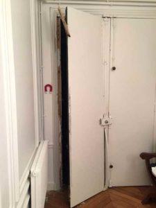 menuisier paris 16 assure le remplacement et la mise en sécurité de la porte